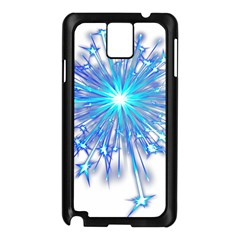 Fireworks Sky Blue Silver Light Star Sexy Samsung Galaxy Note 3 N9005 Case (black) by AnjaniArt