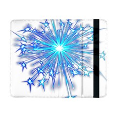 Fireworks Sky Blue Silver Light Star Sexy Samsung Galaxy Tab Pro 8 4  Flip Case by AnjaniArt