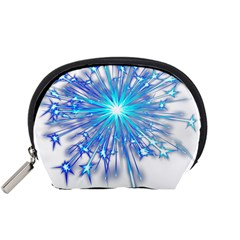 Fireworks Sky Blue Silver Light Star Sexy Accessory Pouches (small)  by AnjaniArt