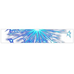 Fireworks Sky Blue Silver Light Star Sexy Flano Scarf (large)