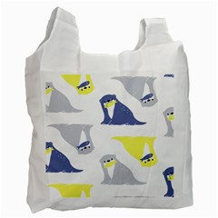 Seals Sea Lions Animals Fish Recycle Bag (two Side)  by AnjaniArt