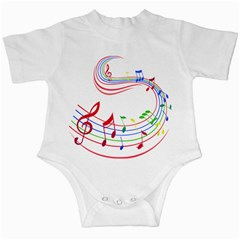 Rainbow Red Green Yellow Music Tones Notes Rhythms Infant Creepers