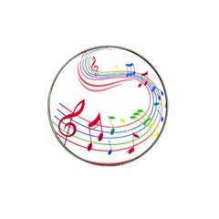 Rainbow Red Green Yellow Music Tones Notes Rhythms Hat Clip Ball Marker (10 Pack) by AnjaniArt