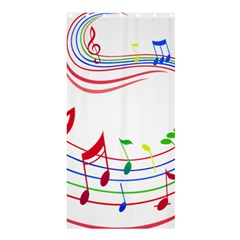 Rainbow Red Green Yellow Music Tones Notes Rhythms Shower Curtain 36  X 72  (stall)