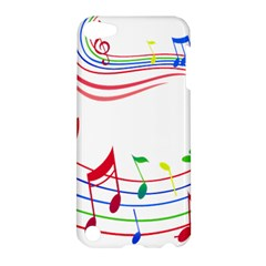Rainbow Red Green Yellow Music Tones Notes Rhythms Apple Ipod Touch 5 Hardshell Case