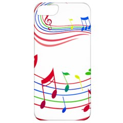 Rainbow Red Green Yellow Music Tones Notes Rhythms Apple Iphone 5 Classic Hardshell Case by AnjaniArt