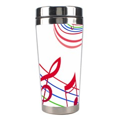Rainbow Red Green Yellow Music Tones Notes Rhythms Stainless Steel Travel Tumblers by AnjaniArt