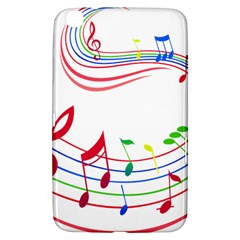 Rainbow Red Green Yellow Music Tones Notes Rhythms Samsung Galaxy Tab 3 (8 ) T3100 Hardshell Case  by AnjaniArt