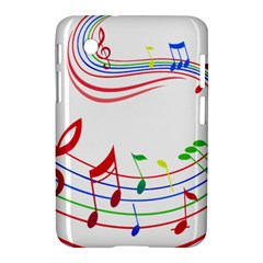 Rainbow Red Green Yellow Music Tones Notes Rhythms Samsung Galaxy Tab 2 (7 ) P3100 Hardshell Case  by AnjaniArt
