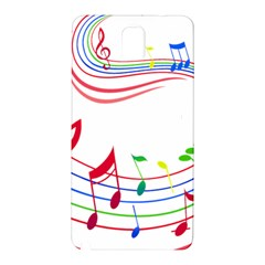Rainbow Red Green Yellow Music Tones Notes Rhythms Samsung Galaxy Note 3 N9005 Hardshell Back Case by AnjaniArt