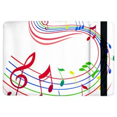 Rainbow Red Green Yellow Music Tones Notes Rhythms Ipad Air 2 Flip by AnjaniArt