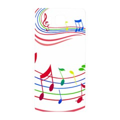Rainbow Red Green Yellow Music Tones Notes Rhythms Samsung Galaxy Alpha Hardshell Back Case by AnjaniArt