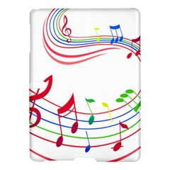 Rainbow Red Green Yellow Music Tones Notes Rhythms Samsung Galaxy Tab S (10 5 ) Hardshell Case  by AnjaniArt