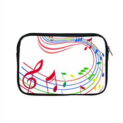 Rainbow Red Green Yellow Music Tones Notes Rhythms Apple Macbook Pro 15  Zipper Case by AnjaniArt