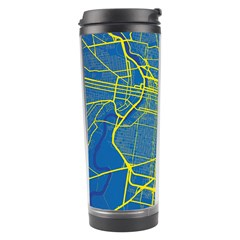 Philadelphia New York Map Art City Travel Tumbler by AnjaniArt