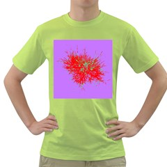 Spot Paint Red Green Purple Sexy Green T Shirt by AnjaniArt