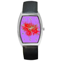 Spot Paint Red Green Purple Sexy Barrel Style Metal Watch by AnjaniArt