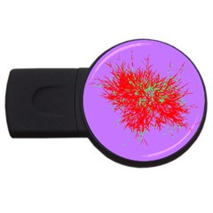 Spot Paint Red Green Purple Sexy Usb Flash Drive Round (4 Gb) by AnjaniArt