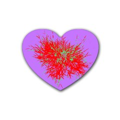 Spot Paint Red Green Purple Sexy Rubber Coaster (heart)  by AnjaniArt