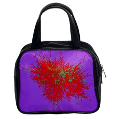 Spot Paint Red Green Purple Sexy Classic Handbags (2 Sides) by AnjaniArt