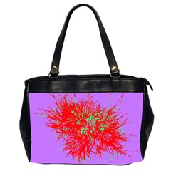 Spot Paint Red Green Purple Sexy Office Handbags (2 Sides)  by AnjaniArt