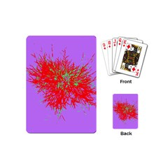 Spot Paint Red Green Purple Sexy Playing Cards (mini)  by AnjaniArt
