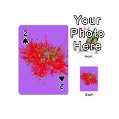 Spot Paint Red Green Purple Sexy Playing Cards 54 (mini)  by AnjaniArt