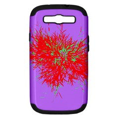 Spot Paint Red Green Purple Sexy Samsung Galaxy S Iii Hardshell Case (pc+silicone) by AnjaniArt