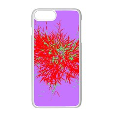 Spot Paint Red Green Purple Sexy Apple Iphone 7 Plus White Seamless Case by AnjaniArt