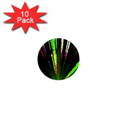 Seamless Colorful Green Light Fireworks Sky Black Ultra 1  Mini Magnet (10 Pack)  by AnjaniArt