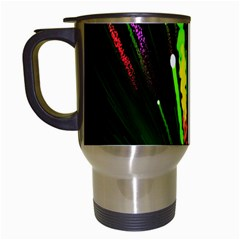 Seamless Colorful Green Light Fireworks Sky Black Ultra Travel Mugs (white) by AnjaniArt