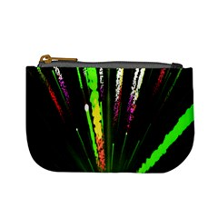 Seamless Colorful Green Light Fireworks Sky Black Ultra Mini Coin Purses by AnjaniArt