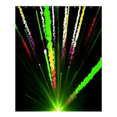 Seamless Colorful Green Light Fireworks Sky Black Ultra Shower Curtain 60  X 72  (medium)  by AnjaniArt