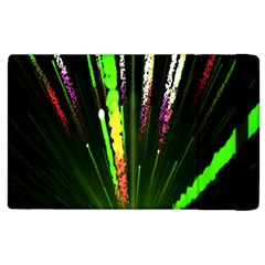 Seamless Colorful Green Light Fireworks Sky Black Ultra Apple Ipad 2 Flip Case by AnjaniArt