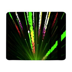 Seamless Colorful Green Light Fireworks Sky Black Ultra Samsung Galaxy Tab Pro 8 4  Flip Case by AnjaniArt