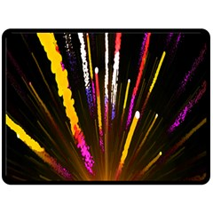 Seamless Colorful Light Fireworks Sky Black Ultra Fleece Blanket (large)  by AnjaniArt