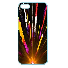 Seamless Colorful Light Fireworks Sky Black Ultra Apple Seamless Iphone 5 Case (color) by AnjaniArt
