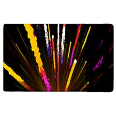 Seamless Colorful Light Fireworks Sky Black Ultra Apple Ipad 3/4 Flip Case by AnjaniArt
