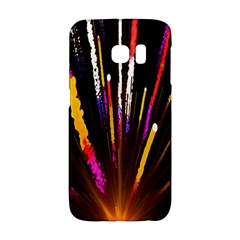 Seamless Colorful Light Fireworks Sky Black Ultra Galaxy S6 Edge by AnjaniArt