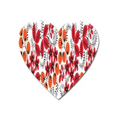 Rose Flower Red Orange Heart Magnet