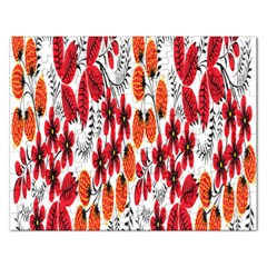 Rose Flower Red Orange Rectangular Jigsaw Puzzl by AnjaniArt