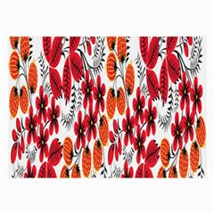 Rose Flower Red Orange Large Glasses Cloth (2-side) by AnjaniArt
