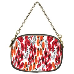 Rose Flower Red Orange Chain Purses (one Side)  by AnjaniArt