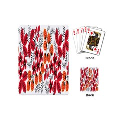 Rose Flower Red Orange Playing Cards (mini)  by AnjaniArt