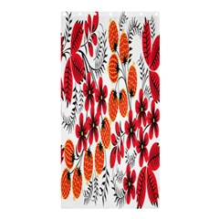 Rose Flower Red Orange Shower Curtain 36  X 72  (stall)  by AnjaniArt