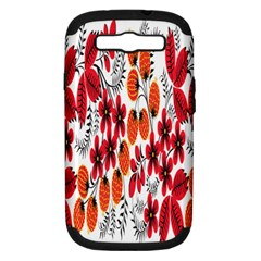 Rose Flower Red Orange Samsung Galaxy S Iii Hardshell Case (pc+silicone) by AnjaniArt