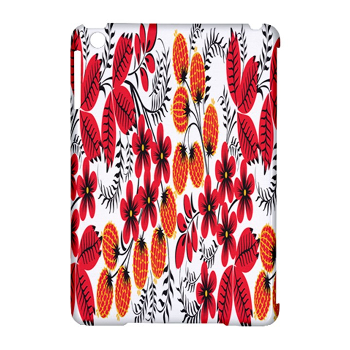 Rose Flower Red Orange Apple iPad Mini Hardshell Case (Compatible with Smart Cover)