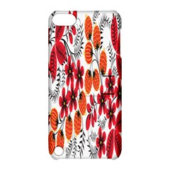 Rose Flower Red Orange Apple Ipod Touch 5 Hardshell Case With Stand by AnjaniArt