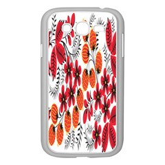 Rose Flower Red Orange Samsung Galaxy Grand Duos I9082 Case (white) by AnjaniArt