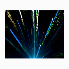 Seamless Colorful Blue Light Fireworks Sky Black Ultra Small Glasses Cloth